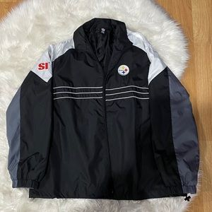 Pittsburgh Steelers Reebok Windbreaker size XL